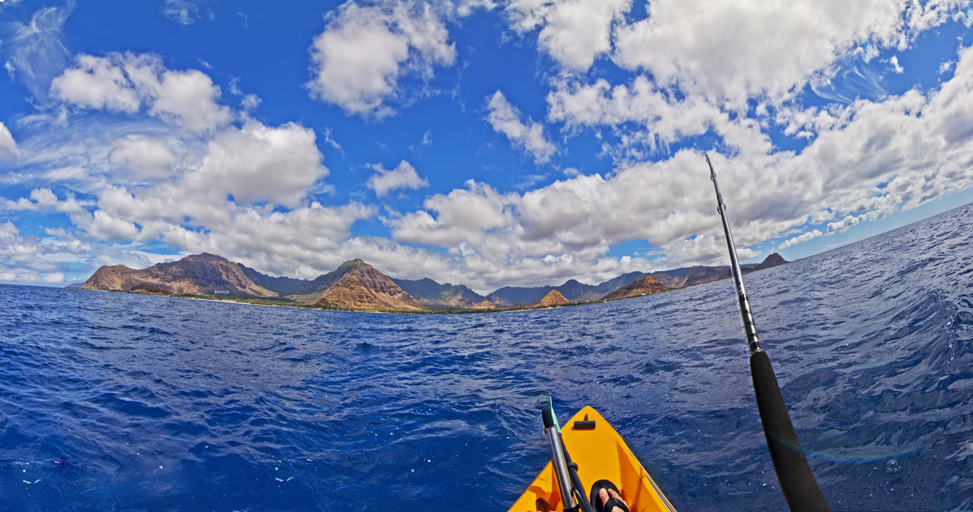 Kayak fishing the waianae coast aloha from 808 for Kayak fishing hawaii